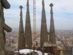 Barcelone vue du haut de la Sagrada
