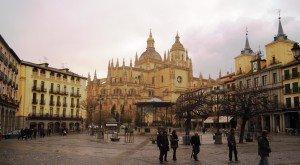 Plaza Mayor Vue sur las Cathédrale